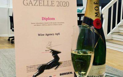Wire Agency vinder Børsen Gazelle pris